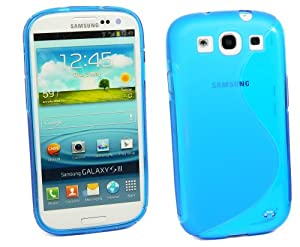 Kit Me Out IT - Samsung Galaxy S3 SIII i9300 Android Android Protezione Custodia / Cover / Skin TPU Gel 'La S' Blu