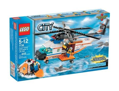 LEGO City Helicóptero de la Guardia Costera y balsas salvavidas