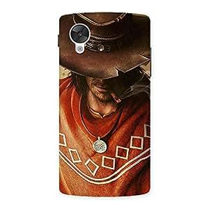 Enticing Cowboy Multicolor Back Case Cover for Google Nexsus 5