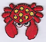 Mini Crab Iron on Sew on Embroidered Badge Applique Motif Patch From PatchWOW
