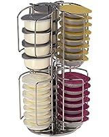Xavax Rondello Porte-capsules pour capsules Tassimo Argent