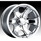 Pacer Warrior 16x8 Polished Wheel / Rim 5x135 with a 10mm Offset and a 87.00 Hub Bore. Partnumber 187P-6853