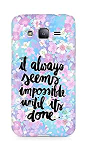 AMEZ it always seems impossible untill its done Back Cover For Samsung Galaxy J2