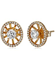 Sia Art Jewellery Stud Earrings For Women (Golden) (AZ2645)