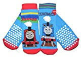 Boys Slipper socks Thomas The Tank and James 2 Pair Pack sizes 3-5.5 6-8.5 9-12
