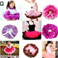 Baby Kids Girls Cute Chiffon Tutu Skirts Full Pettiskirt Princess Dancewear 1-8Y