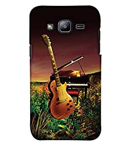 PrintHaat Premium Back Case Cover for Samsung Galaxy On5 Pro (2015) :: Samsung Galaxy On 5 Pro (2015) (guitar lover :: guitar player :: Musical design :: Music note design :: Instrumental design :: Melody design :: Music rock design :: love playing on guitar)