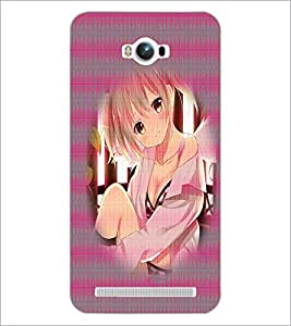PrintDhaba Cute Girl D-4483 Back Case Cover for ASUS ZENFONE MAX ZC550KL (2016) (Multi-Coloured)