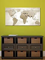 Ambiance Sticker Vinilo Decorativo Magnetic Wall Paper World Map