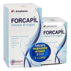 Forcapil Cheveux et Ongles Programme Intensif 3 mois+1 offert