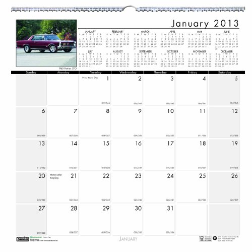 Classic Cars Wall Calendar 12 Months January 2013 to December 2013