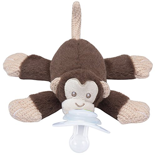 Nookums Paci-Plushies Monkey - Universal Pacifier Holder