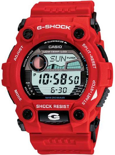 Casio Men&#8217;s G7900A-4 G-Shock Rescue Red Digital Sport Watch