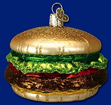 #!Cheap Old World Christmas Cheeseburger Ornament