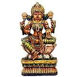 Redbag Goddess Shri Lakshmi - Wood Statue ( 59.06 Cm, 30.48 Cm, 12.7 Cm )