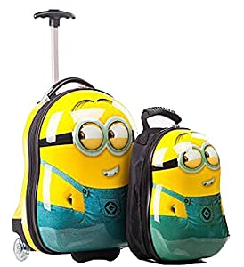 New Egg Shaped Kids Childrens Luggage Suitcase Trolley Backpack