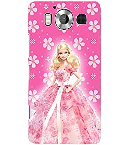 PrintDhaba BARBIE DOLL D-6436 Back Case Cover for MICROSOFT LUMIA 950 (Multi-Coloured)