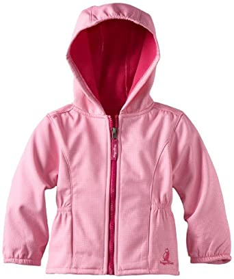 (1.7折)Rugged Bear Girls 2-6X Soft Shell Jacket女宝连帽抓绒软壳 蓝$14.63