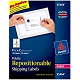 """Avery Repositionable Shipping Labels for Laser Printers, 3.33 x 4"""", Pack of 150 (55464)"""