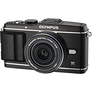 Olympus PEN E-P3 12.3 MP Live MOS Micro Four Thirds Interchangeable Lens Digital Camera with 17mm Lens - Black