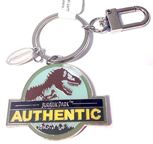exclusive-universal-studios-jurassic-park-authentic-t-rex-dinosaur-logo-metal-keychain-with-charm