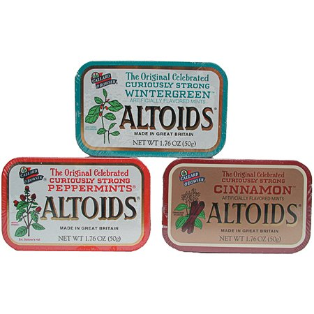 Altoids curiously strong mints with wintergreen flavor - 1.7 oz / 12 tins (022000159342)