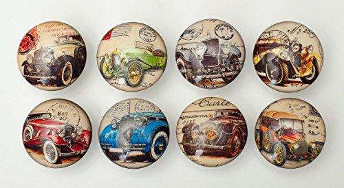 Set of 8 Vintage Car Dresser Drawer Cabinet Knobs (Vintage Car Knobs compare prices)
