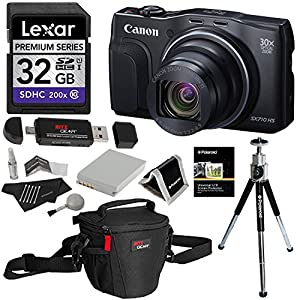 Canon Powershot SX710 HS 20.3MP Camera + Lexar Platinum II 300x SDHC 32GB UHS-I + Polaroid Deluxe Accessory Kit + Polaroid 8 Inch Tripod + Ritz Gear Deluxe Premium Photo Pack + Polaroid Canon Battery