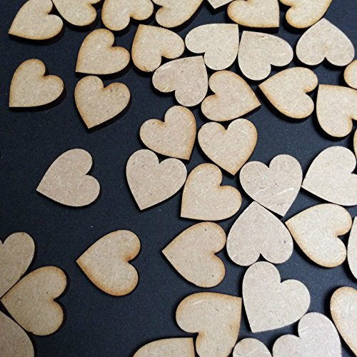 50 pcs 1 set wooden heart shapes laser cut mdf blank for Craft work at home