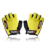 Oceantree(TM) New Cycling Bike Bicycle Gel Silicone half finger Ultra-breathable gloves (yellow, L)