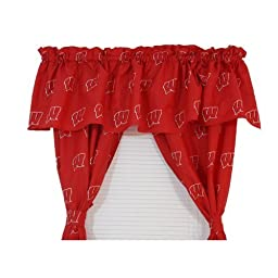 College Covers Wisconsin Badgers Printed Curtain Panels 42\