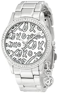 XOXO Women's XO5144 Silver-Tone Bracelet With Heart Charm Watch