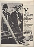 **PRINT AD** For Miller Beer Wright Brothers 1982 Original **PRINT AD**