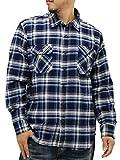 (ルーシャット) Roushatte 大きいサイズ メンズ シャツ ネルシャツ 長袖 チェック 柄 7color LL ブルー