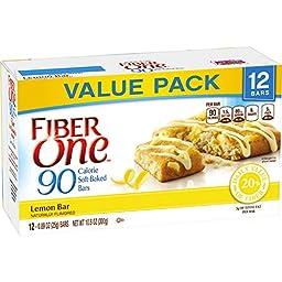Fiber One 90 Calorie Soft-Baked Bars Lemon Bar, 12 Count, 10.6 oz.