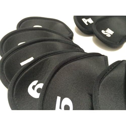 ゴルフ クラブ アイアン ヘッド カバー 10個 + パター カバー セット
