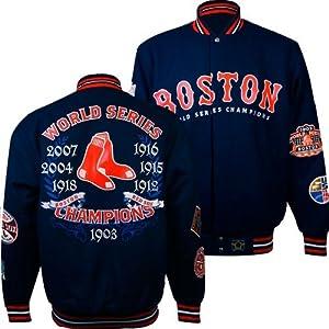Boston Red Sox J.H. Design MLB Commemorative Jacket (Red) by J.H. Design
