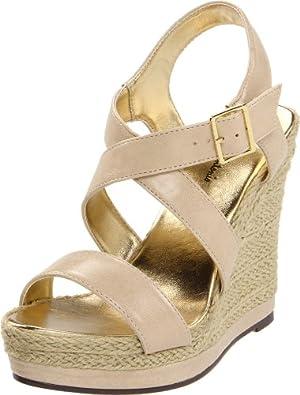 Michael Antonio Women's Galin Wedge Sandal,Tan,10 M US