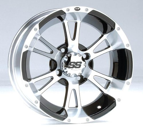ITP SS112 Wheel - 14x6 - 4+2 Offset - 4/156 - Machined, Wheel Rim Size: 14x6, Rim Offset: 4+2, Bolt Pattern: 4/156 14SS33BX