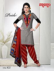 Anand Prints Women's Cotton Unstitched Dress Material (Dno102_MultiColored)