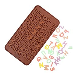 Buytra Silicone Alphabet Cake Mold Decorating Fondant Cookie Chocolate Mold Jelly Candy Mold