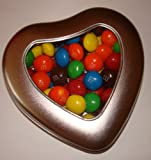 American peanut butter M&M's heart tin