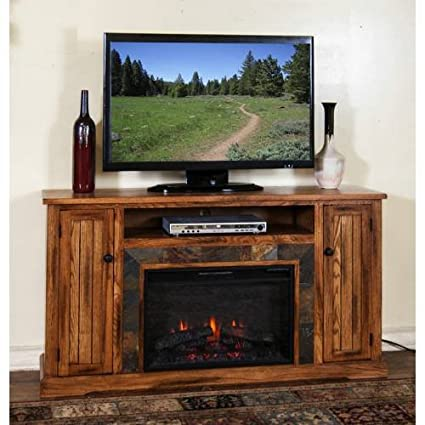 "Sedona 60"" TV Stand with Electric Fireplace"