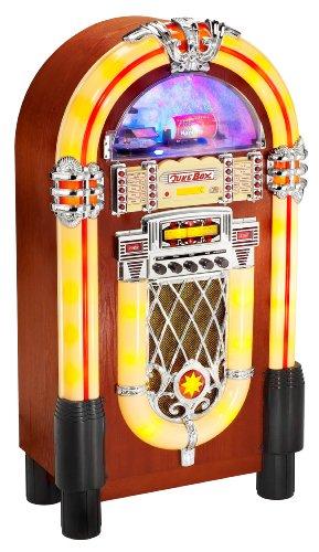 JB 6604 Jukebox (CD/MP3-Player, Radio, SD/MMC-Kartenslot, USB, Lightshow)