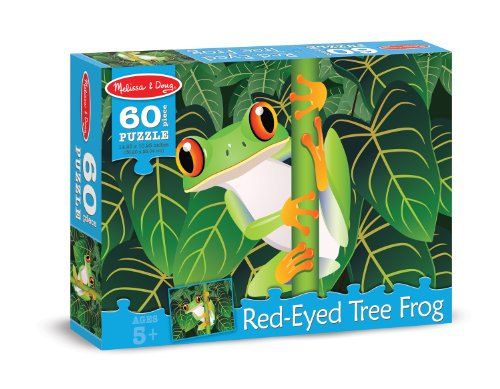 Melissa & Doug Red-Eyed Tree Frog Cardboard Jigsaw Puzzle, 60-Piece