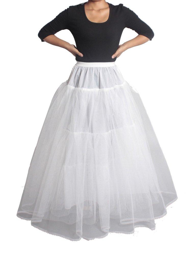 XYX Frauen-Hochzeits PetticoatUnderskirt Schlupf Krinoline HOOPLESS WEISS XS-M günstig kaufen