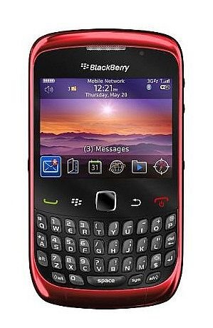 BlackBerry Curve 9300 3G WIFI, GPS, 2MP, 6.0 Blackberry OS, Qwerty Keyboard Unlocked Mobile World Phone (Red)