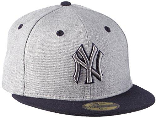 NEW ERA CAP Top New York Yankees, Unisex, Cap Top New York Yankees, Official Team Colour/ Heather Gray, 7 3/8