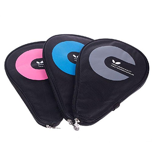 Waterproof Table Tennis Racket Case Bag For 2 Ping Pong Paddle Bat #02