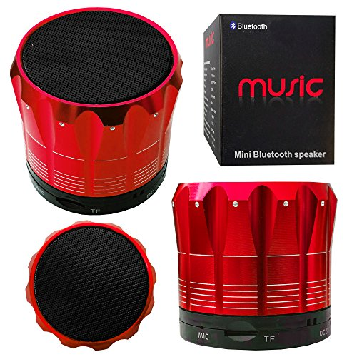 Halfdirect Original Wireless Hd S12 Mini Universal Bluetooth Speaker With Mic / Speaker Phone For All Samsung Galaxy, Apple Iphone, Ipad, Htc One, Zte, Moto, Nokia Phone Models. (Red)